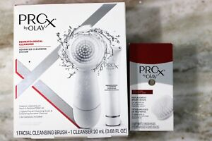 PRO X By OLAY Spin Brush and Cleanser with Two Replacement Head Brushes LOT