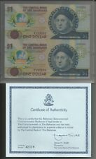 BAHAMAS - 1 Dollar ND (1992) UNC Pick 50 Coppia Uncut