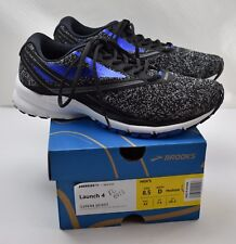 Brooks Launch 4 Running Shoes Black/Anthracite/Electric Blue - Men's 8.5 D 42 EU