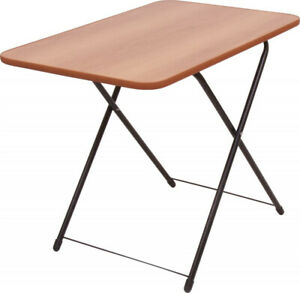 Camping Portable Garden Dining Folding Table Brown Wood 29.5*19.6*19.6/24.2 inch