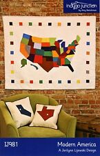 "Modern America Quilt Pattern 16"" Square Indygo Junction Amy Barickman IJ981"
