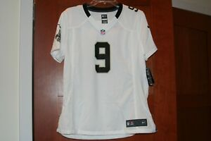Women's Nike New Orleans Saints Game Drew Brees Jersey White Large L