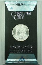 1882-CC GSA Morgan Silver Dollar $1 Coin ANACS MS-63 with Box & COA (X)