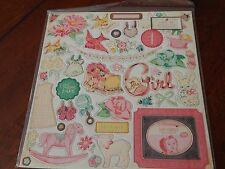 CRATE PAPER LITTLE BO BEEP CHIPBOARD STICKERS BABY GIRL SHOWER EMBELLISHMENT NEW