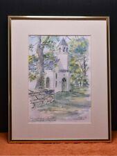 Waterford, Virginia Church Painting Leonida Ivanetich Original Watercolor Ink