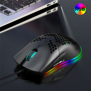 HXSJ J900 USB Wired Gaming Mouse RGB Gamer Mouses with Six DPI Ergonomic Design