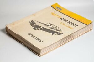 Genuine Ford Workshop And Repair Manual for Ford Escort 1977