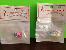 Creative Crafts Miniature Sledding Skiing Figurines For Crafts NOS