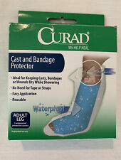 Curad Cast and Bandage Protector Adult Leg 2 Waterproof Covers