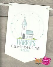 Personalised, Baptism, Christening, Naming Day Decoration Banner Party Bunting