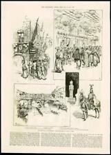 1887 - ITALY - FLORENCE FESTIVALS PALAZZO VECCHIO RIVER ARNO BALL REGATTA  (47)