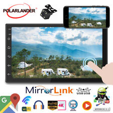 7''2 Din GPS Android Car Radio Airplay+Camera FM BT Touch Wifi iOS Mirror Link