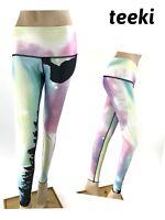 Teeki Northern Lights Hot Pants Leggings Size Medium