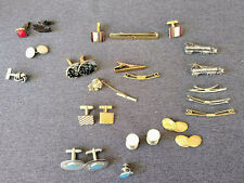Vintage Various Lot of Tie Clips, Bars, Cuff Links Swank Hadley Anson