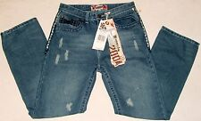 NWT Monarchy Style Distressed Light Blue Jeans Sz 16 Measure 29 x 29