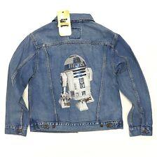 Levi's x Star Wars Ex-Boyfriend Trucker Jacket Size Women's Medium R2D2 Blue