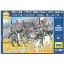 ZVEZDA 8020 Russian Heavy Infantry 1812 Model Kit 1:72