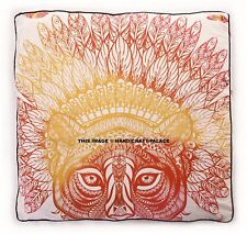 Indian Square African Tiger Floor Pillow Case Throw Cushion Ottoman Pouf Dog Bed