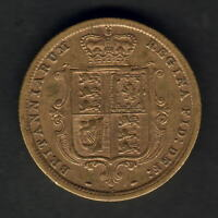 Australia.  1887 Sydney - Young Head. 1/2 Sovereign.. Trace Lustre..  F+/aVF