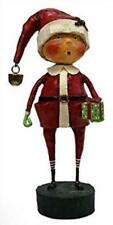 "Playing Santa Whimsical Christmas Figurine 6"" Tall, Lori Mitchell, by Esc"