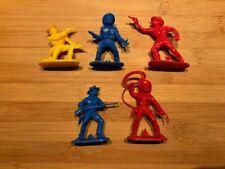 5 cowboys vintage plastic figures West Germany / Jean Hoefler