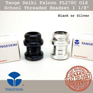 "Tange Seiki Falcon FL270C Old School Threaded Bike 1 1/8"" Headset Silver/Black"
