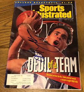 Christian Laettner Signed Duke NCAA Sports Illustrated Magazine Dream Team Auto