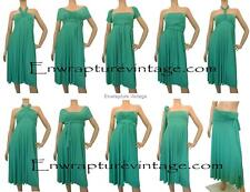 ULTRAMARINE GREEN MULTI WEAR MAXI CONVERTIBLE DRESS  TWIST SIZE:AU 8-18,US 4-16