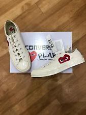 Converse x CDG Comme Des Garcons Play Low Blanc UK8 Entièrement neuf dans sa boîte