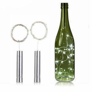 Wine Bottle 10 15 20 LED String Light Cork Shaped Night Light For Starry Xmas AU