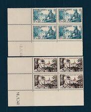 timbre France bloc de 4 coin daté  pour nos soldats   num: 451/52  **