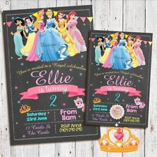 Personalised PRINCESS Birthday Invitations Invites Party Photo Printed Magnets