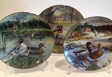 Lot of 3 Bart Jerner Duck Series Collectors Plates Knowles No Box No Coa