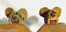 The Cutest Pair Anri Hand Carved Skye Terrier Westie Scotty Dog Bookends Germany