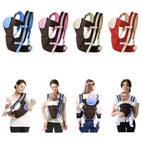 4-in-1 Newborn Infant Baby Carrier Breathable Ergonomic Adjustable Backpack US