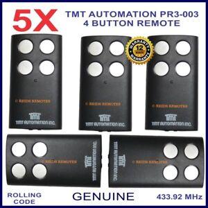 TMT Automation PR3-003 genuine 4 silver button black gate remote control X 5