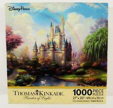 DISNEY PARKS THOMAS KINKADE NEW DAY AT THE CINDERELLA CASTLE PUZZLE 1000 PIECES