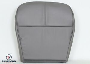 92-99 Ford E350 Econoline XL Van -Driver Bottom Vinyl PERFORATED Seat Cover Gray