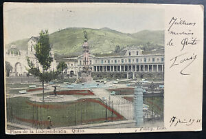 1911 Ecuador Picture Postcard cover To Versailles France Independence Square