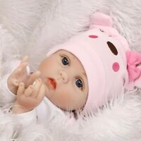 22'' Newborn Silicone Vinyl Reborn Gift Doll Handmade Reborn Lifelike Dolls