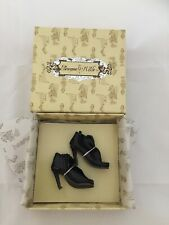 Doll SHOES - Tonner Ellowyne Wilde ~ Shirred Step, Black - fashion pumps heels