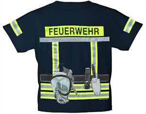 Kinder Feuerwehr T-Shirt Einsatzleiter Jungen Mädchen Geschenk NEU  86-164