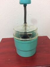 Vtg Popeil Chop-O-Matic Food Chopper No 30 Blue Kitchen Small Appliances