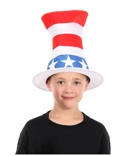 Dr Seuss the Cat In The Hat Red White Blue Patriotic 4th of July Memorial Day