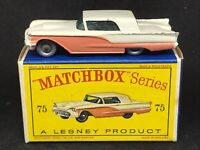 *HTF Matchbox Lesney 75 A3 Thunderbird *Blue Base & HTF Orig Type D1 Box