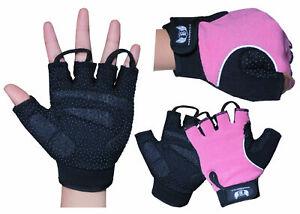 Ladies Wheelchair Gloves Fingerless GEL Padded Driving Biker Cycling Gym Workout
