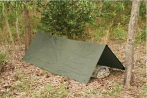 HOOTCHIE OD GREEN 278X186CM 560 GRAMS TAPED SEAMS HOOCHIE ARMY / CAMPING / BASHA