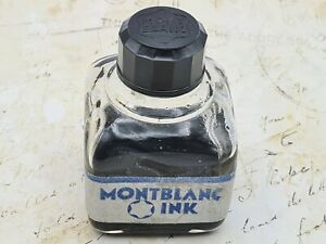 "Vintage Montblanc Glass Bottled Fountain Pen Ink.  ""Fulfills all the demands..."""