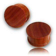 Rose Wood Plugs Organic Plug Pair Of 7/8 Inch 22Mm Concave