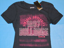 NWT Hurley Gonzaga BULLDOGS 1887 T-Shirt Women Sz S Navy Blue Perfect Crew NEW